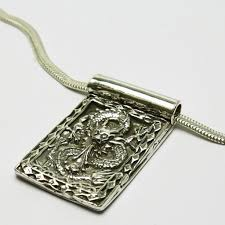 silver pendant necklace handmade images Mens dragon pendant fine silver handmade with sterling snake ch jpg