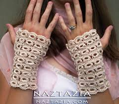 broomstick lace broomstick lace crochet fingerless gloves mitts by donna wolfe
