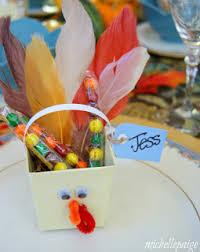 blogs thanksgiving table turkey favors
