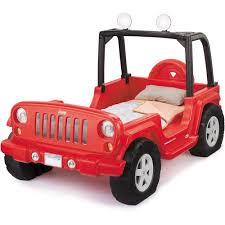 Jeep Bunk Bed Little Tikes Jeep Wrangler Toddler To Twin Convertible Bed Red