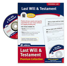 amazon com adams last will and testament with cd forms and