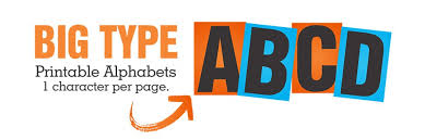 printable alphabet print big letters print big numbers a4 size