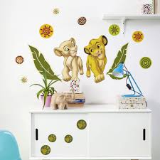 wall stickers babies and children disney wall stickers shop wall lion king simba and nala wall sticker