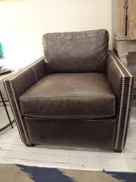 Leather Club Chair Smoke Leather Club Chair Mecox Gardens