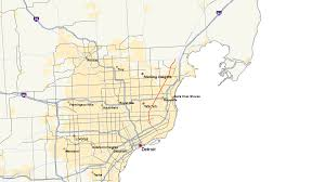 Metro Detroit Map by M 97 Michigan Highway Wikipedia