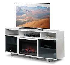 Tv Stand Sorenson Fireplace Tv Stand White Leon U0027s