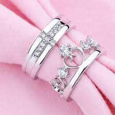 couple rings silver images Imperial crown silver couple rings jpg