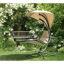 Hanging Chaise Lounge Chair Sunjoy Corona Polyester Hanging Chaise Lounger With Stand