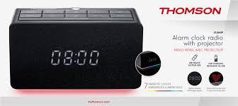 avec radio alarm clock radio with projector cl300p thomson bigben en
