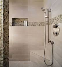 bathroom tile feature ideas could we get away with only half a glass door on the bath shower