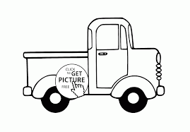 cartoon small truck coloring page for preschoolers transportation
