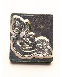 rose corner 3d embossing stamp identity leather craft