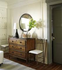 retro bathroom decor corner stone tub near teak wood cabinetry