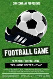 football poster templates postermywall