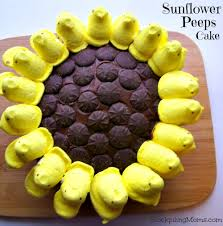 Easter Decorations With Peeps by Easter Peeps Cake