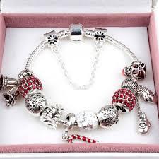 2017 newest popular charm bracelets style of christmas bell santa