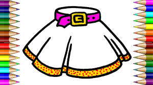 skirt coloring page how to draw skirt learning colouring