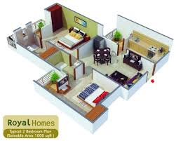 1000 square feet home plan with 2 bedrooms everyone will like