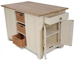 country painted pine kitchen island unit cream