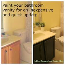 How To Paint Furniture Black by Coffee Caramel U0026 Cream How To Paint Your Bathroom Vanity