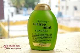 sriz beauty blog organix tea tree mint hydrating shampoo review