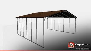 open style steel carport with boxed eave roof steel carports