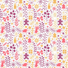 merry christmas seamless pattern happy new year background