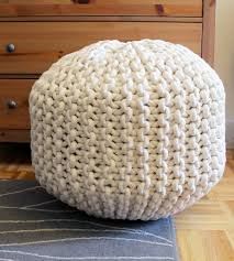 giant knit pouf footrest home decor u0026 lighting mary marie
