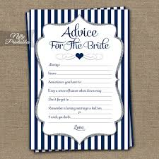 to be advice cards printable bridal shower advice cards navy blue silver bridal