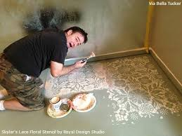 lace stencils and patterns for painted floors concrete floor