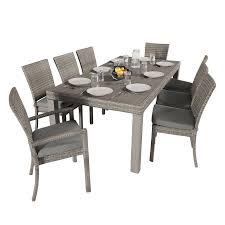 9 Piece Patio Dining Set - shop rst brands cannes 9 piece charcoal gray patio dining set at