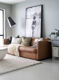 big brown leather sofa giant black floor lamp u0026 big art urban
