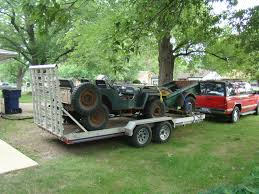 jeep hauling trailer my trailer triton ut16 5 hauling our 1948 willys cj 2a and