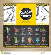 retro martini drawing vintage chalk drawing cocktail bar menu stock vector image