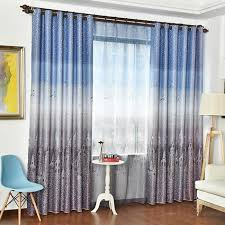 Insulated Curtains Ombre Print Polyester Dreamy Insulated Curtains And Drapes