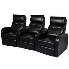 vidaxl artificial leather home cinema recliner reclining sofa 3
