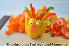 thanksgiving turkey peppers and hummus healthy ideas for
