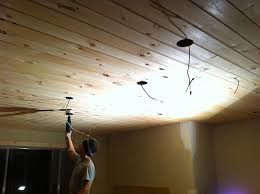 Lighting For Kitchen Ceiling Kitchen Chronicles Diy Tongue And Groove Plank Ceiling Jenna
