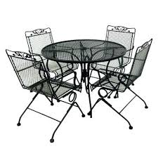 Mesh Patio Table Wrought Iron Mesh Patio Furniture Sgmun Club