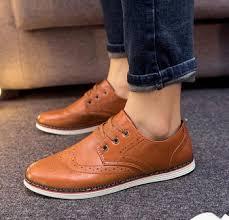 zm40403a trendy flat heel men dress shoes lace up pu men shoes