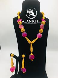 african jewelry necklace set images Buy long dangling african gold necklace set african jewelry set jpeg