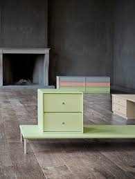 bench and modules in the colour pistachio montanafurniture