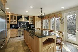 cheerful design for kitchen decoration with birch wood kitchen