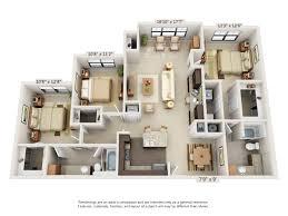 three bedroom floor plans 3343 memorial elevated living