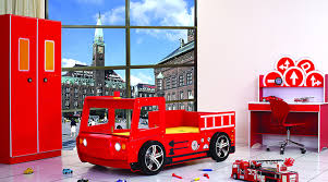 Fire Engine Bed Boys Bedroom