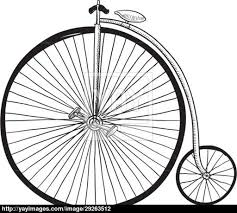 antique bicycle sketch vector yayimages com