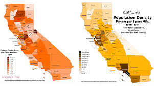 map of california counties surprising patterns in geography of crime in california geocurrents