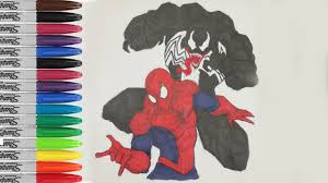 spiderman venom coloring pages spiderman fighting fun pages