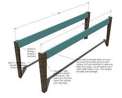 Farm Table Woodworking Plans by Ana White Narrow Farmhouse Table Diy Projects