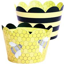bumble bee home decor bumble bee 45222 4 cake dec ons decorations 48 pack by decopac